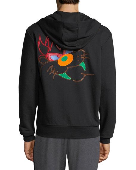 Iceberg Men's Embroidered Taz Zip-Front Hoodie