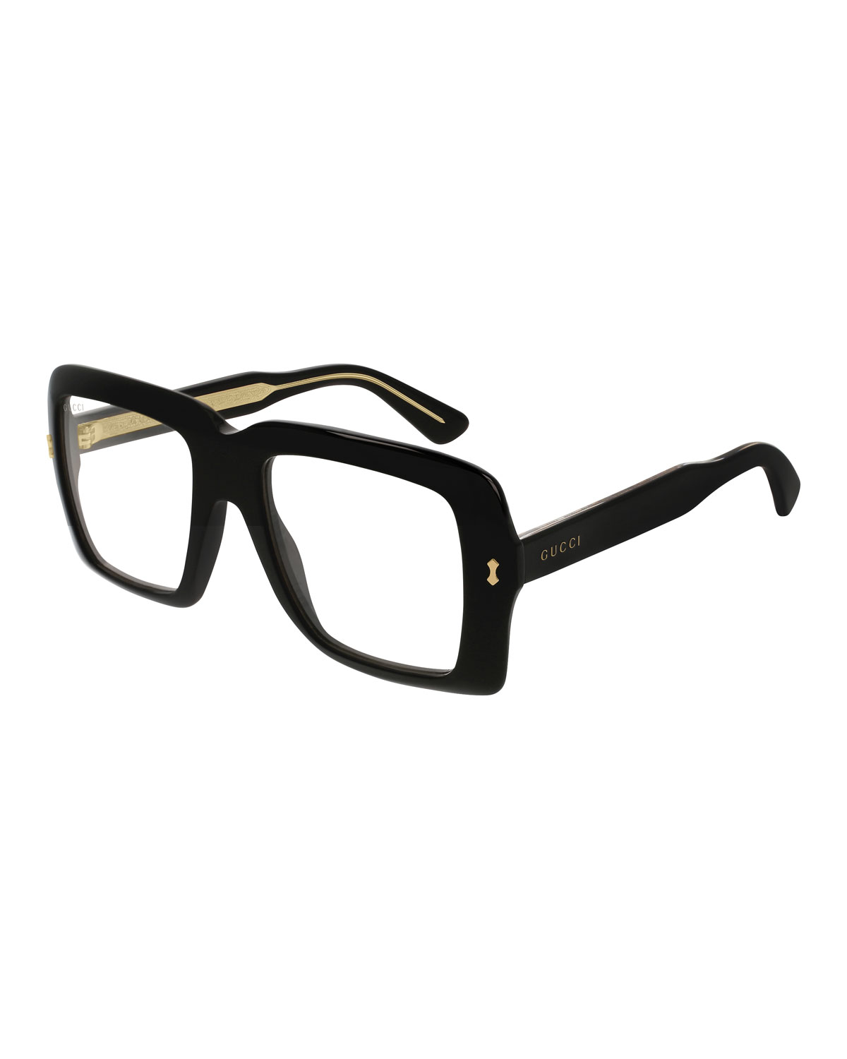 3d1916551c4 Gucci Unisex Bold Acetate Sunglasses with AR Coating