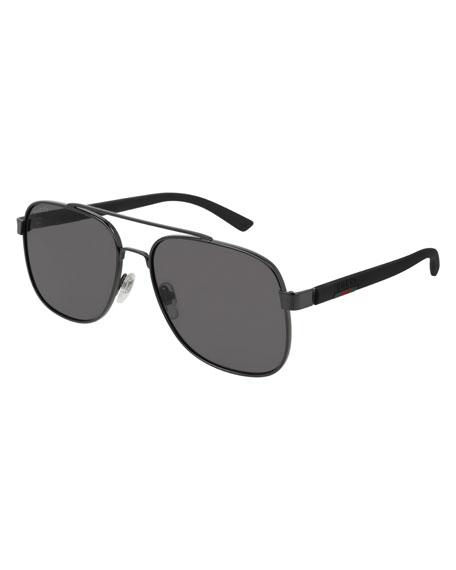 Gucci Men's GG0422S001M Aviator Sunglasses