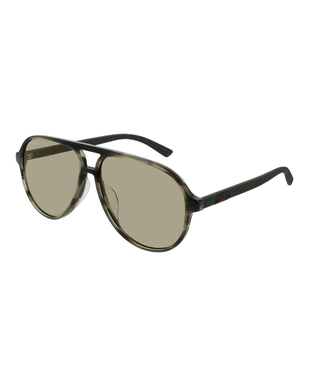 9cbb43de40a Gucci Men s GG0423SA005M Acetate Aviator Sunglasses