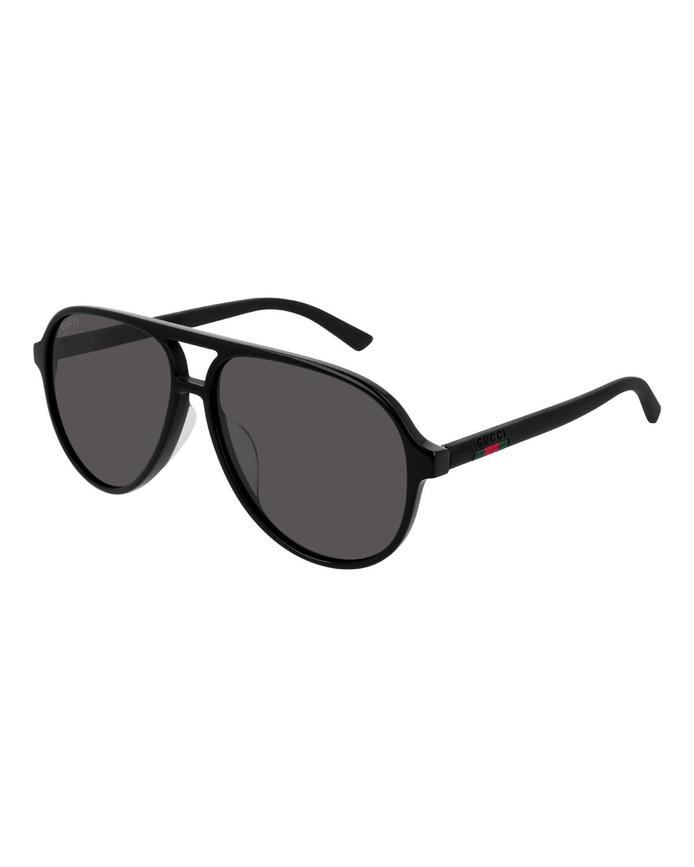 33732f68873 Gucci Men s GG0423SA001M Acetate Aviator Sunglasses