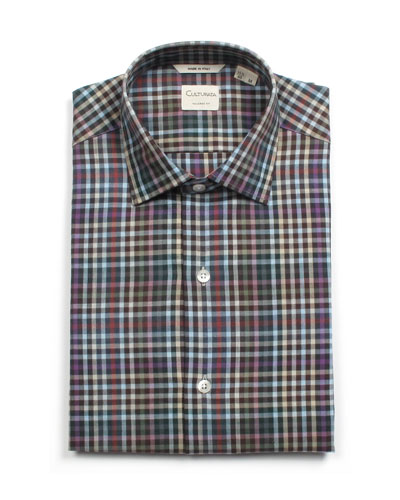Men's Tailored Fit Soft Check Dress Shirt