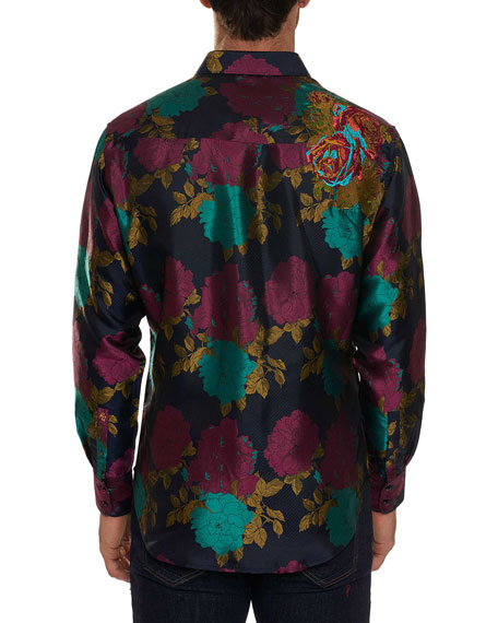 Limited Edition Tango Floral Silk Sport Shirt