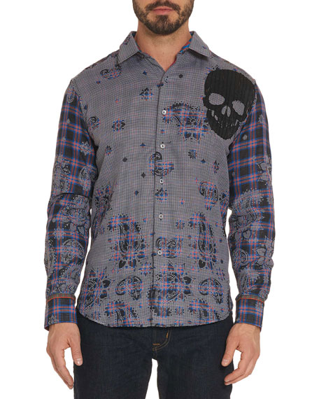 Robert Graham Limited Edition Blues Heaven Skull Graphic