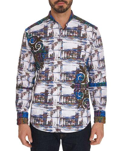 Men's Limited Edition Distinct Plate Graphic Sport Shirt