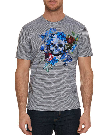 Men's Naylor Skull Graphic Striped T-Shirt