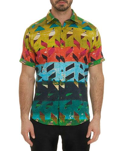 Men's Sharpe Graphic Short-Sleeve Sport Shirt