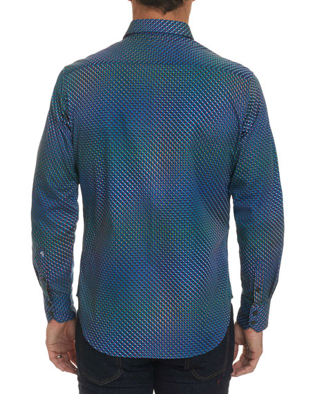 Men's Marsh Abstract Mini Print Sport Shirt
