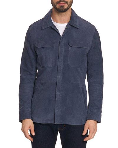 Men's Reavey Suede Snap-Front Jacket