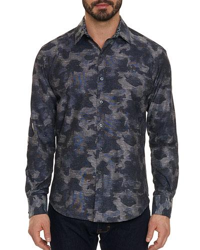 Men's Walsh Camo Twill Sport Shirt