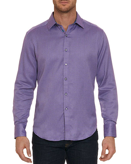 Men's Garvey Mini Check Sport Shirt