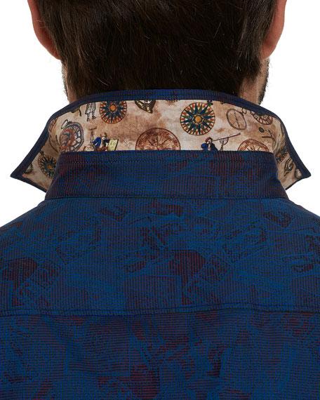 Men's Imprint Vintage Stamp Sport Shirt