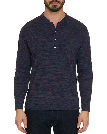 Men's Forster Space-Dyed Camo Henley Shirt