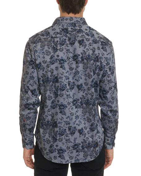 Men's Barker Oxford Floral Classic-Fit Sport Shirt