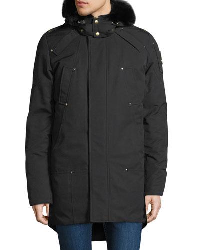 Men's Corner Brook Fur-Trim Parka Coat