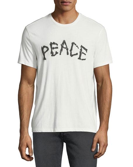 John Varvatos Star USA Men's Skeleton Peace Graphic