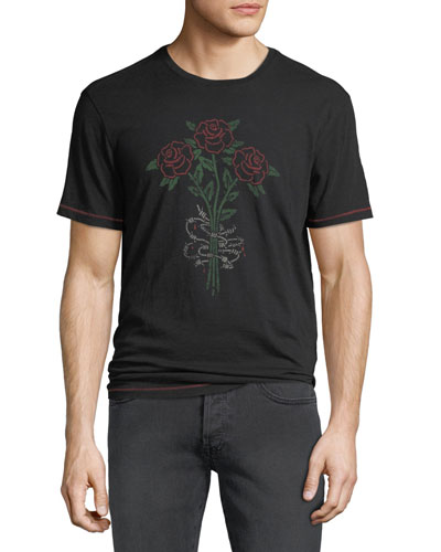 Men's 3 Barbed Rose Graphic T-Shirt