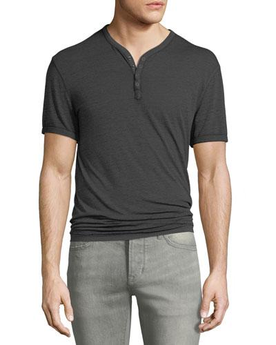 Men's Short-Sleeve Henley Shirt