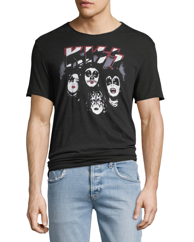 d14863d2c9783 John Varvatos Star USA Men s Kiss Band T-Shirt