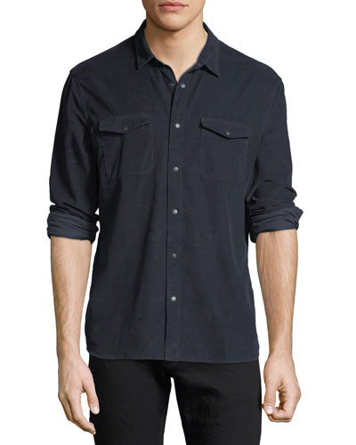 Men's Western-Style Corduroy Sport Shirt