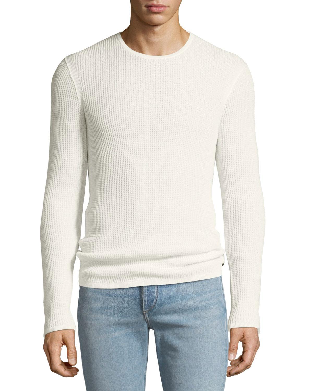 John Varvatos Star USA Men s Waffle-Knit Crewneck Sweater  79823761cf72