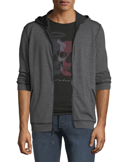 John Varvatos Star USA Men's Double-Knit Zip-Front Hoodie