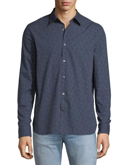 John Varvatos Star USA Men's Floral-Print Sport Shirt