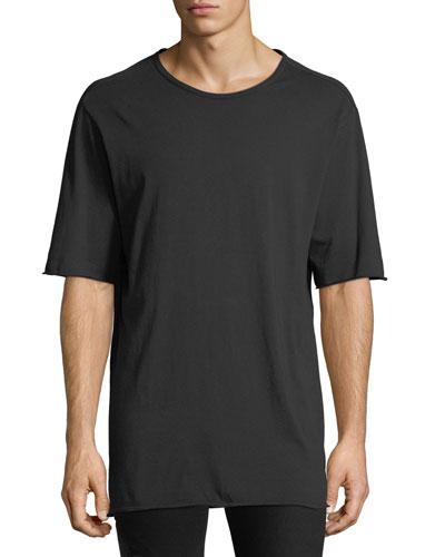 Men's Crewneck Elongated T-Shirt