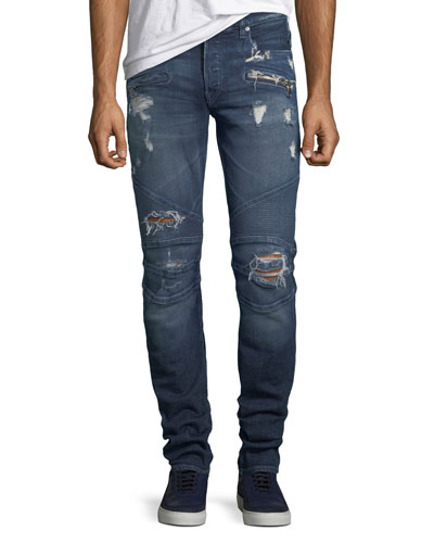 Men's The Blinder Distressed Biker Jeans