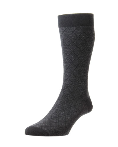 Men's Doughty Diamond Feeder Stripe Socks