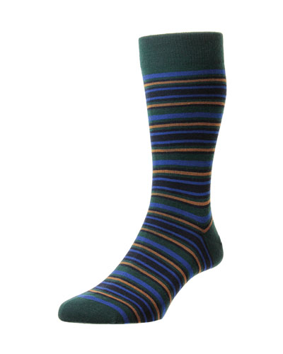 Men's Piper Striped Wool Socks