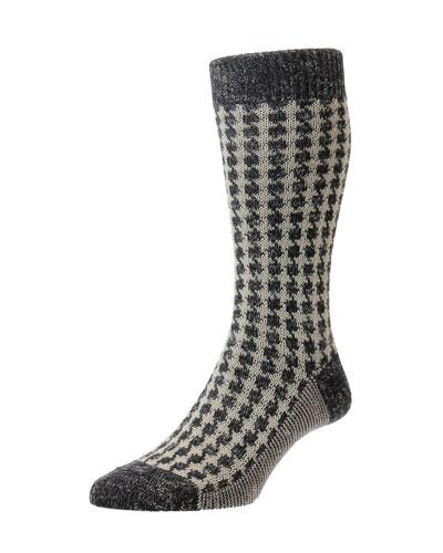 Men's Hoyland Houndstooth Socks