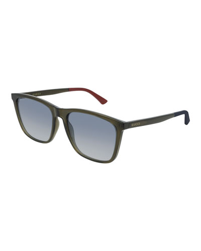 Men's GG0404S007M Injection Sunglasses - Gradient