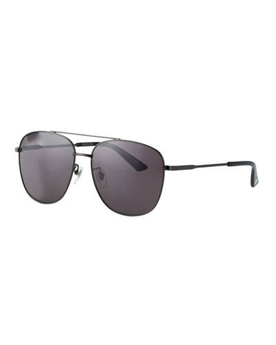 Men's GG0410SK001M Aviator Sunglasses