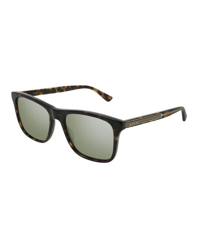 Men's GG0381S003M Mirrored Sunglasses