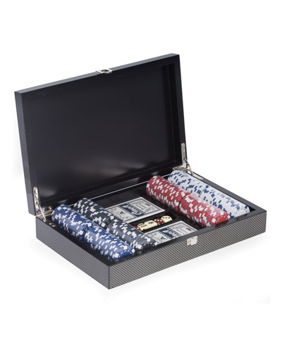 Carbon Fiber-Design Poker Set