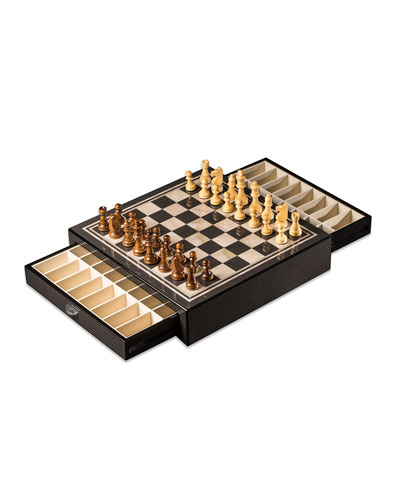 Carbon Fiber-Design Chess Set