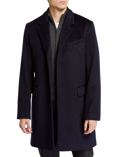 Men's Wool-Cashmere Peacoat