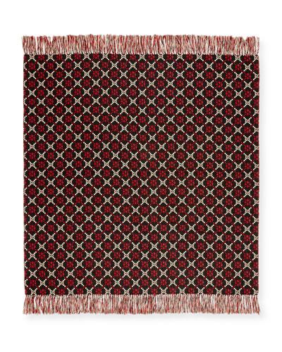 GG Logo Intarsia Wool Blanket