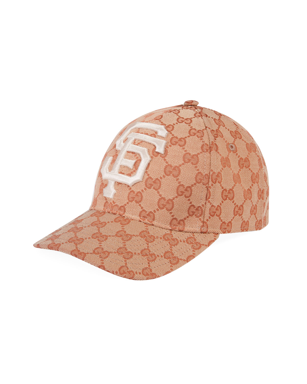 526b624e1bbbe Gucci Men s Logo-Print Baseball Cap with San Francisco Giants MLB Applique