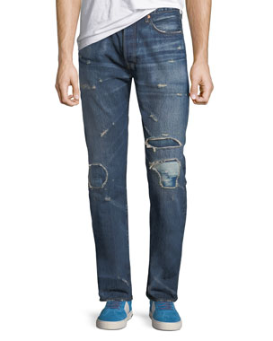 4b9e5c6de6f Levi s Made   Crafted Men s Made   Crafted 501™ Original-Fit Distressed  Jeans