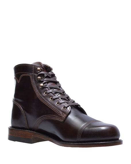 WOLVERINE Men'S Shell Leather Boots in Brown