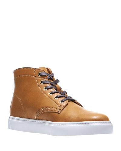 Men's Leather High-Top Sneakers