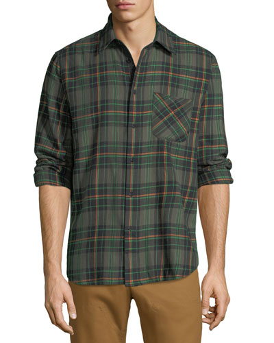 Men's Fit 3 Plaid Beach Shirt with Pocket