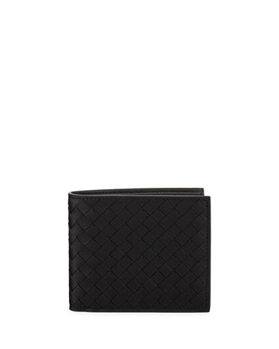 Men's Basic Woven Leather Wallet