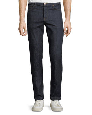 0d2a1f953b4 7 for all mankind Men s Standard Comfort-Stretch Straight-Leg Jeans