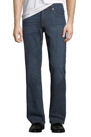 7 for all mankind Men's Brett Straight-Leg A-Pocket Jeans