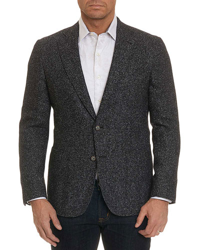 Men's Chester Donegal Tweed Two-Button Sport Coat