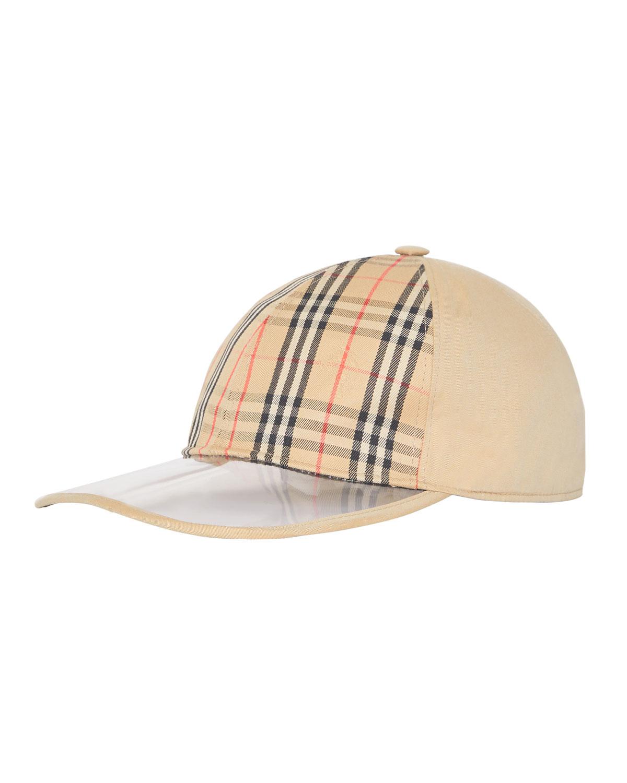 45ed8214917 Burberry Men s Clear-Brim 1983 Check Baseball Cap