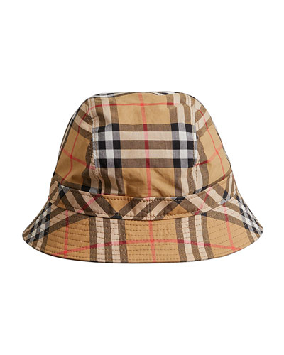 Men's Vintage Check Bucket Hat